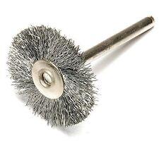 "Enkay 1890-3 Steel Wire Wheel Rotary Brush 1"" Dia 1/8"" Shank Works w/ Dremel"