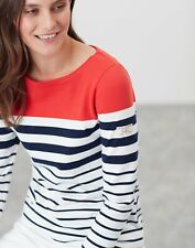 Joules Harbour Langarm Jersey Top-Creme Navy Red Stripe