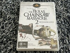 The Texas Chainsaw Massacre Two  2 Gruesome Edition DVD Dennis Hopper - AUS R4