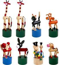Set da 8 animali a pressione in legno,giocattolo per bambini. Idea bomboniera...