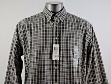 NEW Club Room Men's Plaid Button Front Long Sleeve Shirt Size L