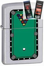 Zippo 205 pool table rack of balls Lighter with *FLINT & WICK GIFT SET*
