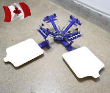 4 color screen printing machine 2 station t shirt screen printing equipment