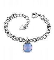 guess ubb61053  armreif armband  farbe silber kristall blau neu