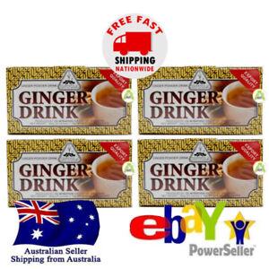 4x Intra Salabat Ginger Tea Healthy Warm Jahe Wangi Powder Drink 20x18g Halal