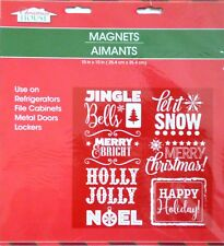 Christmas House Refrigerator, Car, Dishwasher, Metal Doors Magnets ~Jingle Bells