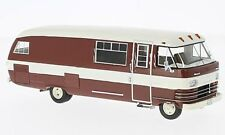Neo 1:43 1963 Dodge Travco Motorhome Caravan in Maroon & Cream