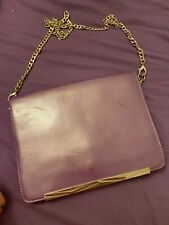 River Island Purple Bag With Gold Chain