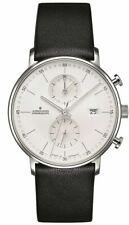 Junghans 041/4770.00 Form C Quartz Chronograph Black Leather Strap Watch