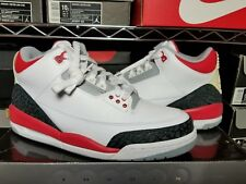 AIR JORDAN 3  RETRO 2006 WHITE / FIRE RED 136064 161 MENS 8