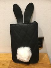 Ann Summers Universal Phone Pouch Black Rabbit New With Tags (L26)