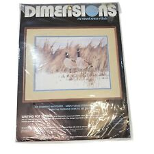 Vintage Dimensions No Count Cross Stitch Kit Waiting For Spring 3626 New Sealed
