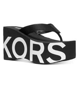 MK Michael Kors Benny Flip-Flop Wedge Sandals Size 8