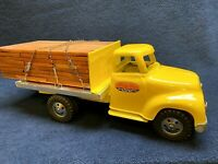 Antique1955 Tonka Custom Flat Bed Lumber Truck Pressed Steel Excellent Condition