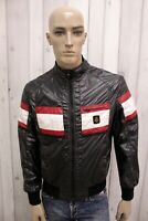 REFRIGIWEAR Uomo Giacca Nero Giubbotto Taglia L Giubbino Jacket Coat Man Jacke