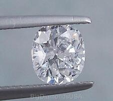 2.04 CARAT CUSHION CUT CERTIFIED LAB GROWN DIAMOND D SI1