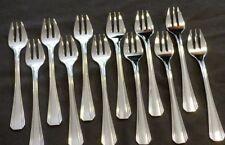 CHRISTOFLE BOREAL set 12 Oyster forks MINT Fourchettes à huitre ART DECO