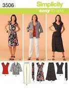 Simplicity Easy SEWING PATTERN 3506 Misses/Womens Dress/Top,Pants,Jacket,Belt
