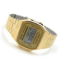 CASIO, A168WG-9W, RETRO VINTAGE LOOK, DIGITAL, GOLD TONE, STEEL BAND, UNISEX