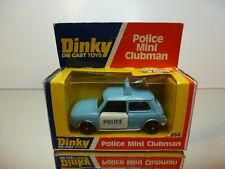 DINKY TOYS 255 POLICE MINI CLUBMAN - BLUE + WHITE  - VERY GOOD IN BOX