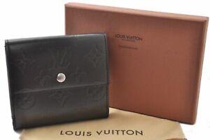 Louis Vuitton Monogram Mat Porte Monnaie Billets Cartes Credit Wallet Box B2029
