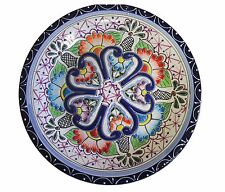 """Talavera style Lunch plate 10"""" handmade, Chip and scratch resistant"""