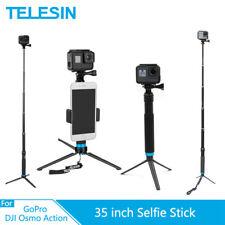 Telesin 35' Aluminum Alloy Selfie Stick Tripod For GoPro 10 9 8 7 Osmo Action