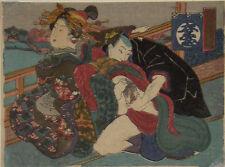 Japanischer Farbholzschnitt, Shunga, Kunisada zugeschrieben    #3146
