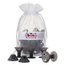 Spoolies Hair Curlers Official Store, 15 Jumbo Rollers, Shadow Black