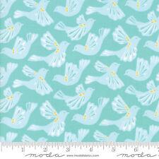 By 1/2 Yard ~ Moda Fabric Kate Spain Early Bird Flock in Aqua ~ Birds