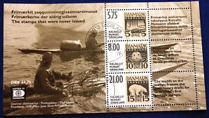 Greenland Block 2001.10.16. Stamps that were never issued - C. Z. Slania - CTO