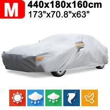 173'' Heavy Duty Full Car Cover Waterproof Outdoor Heat Dust Rain Snow Protector