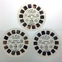 Vintage 1987 Superman Set Of 3 View Master Stereo Slide Reel Portland Q641