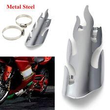 Motorcycle Motorbike Chrome Metal Flame Exhaust Muffler Heat Shield Cover Guard
