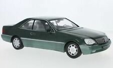 KK SCALE MERCEDES BENZ 600 SEC VERDE SCURO METAL SCALA 1/18 653755