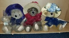 Lot 3 Boyds Bears Bernadette Nanette Ginnie Best Dressed Hats Retired w/ tags