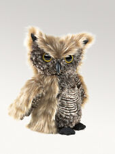 Screech Owl Finger Puppet with Head that Rotates,  Folkmanis MPN 2961, 3 & Up
