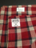 Multiples! Park Designs Fairfax Country Red/black Plaid 18x18 100% cotton napkin