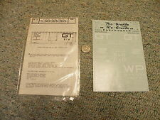 Microscale decals HO 87-82 Freight Cars #8 Western Pacific GT Rio Grande BO L125