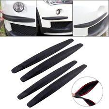 4X Auto Kohlefaser Schwarz Schutzleiste Stoßstange Eckenschutz Aufkleber Schutz