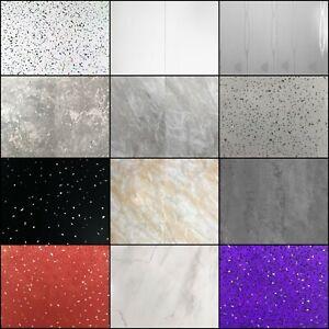 10 x White Black Grey & Marble Bathroom PVC Cladding Wall Panels 5mm + 8 mm