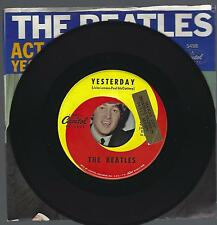 The Beatles 45 RPM Record; Yesterday; Capitol; #5498; w/ Picture Sleeve