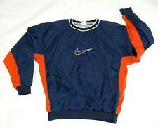 Nike men's pullover windshirt blue size Xl crew neck long sleeve nylon