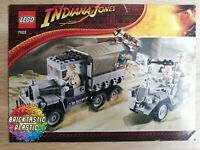 LEGO - INSTRUCTIONS BOOKLET Race for the Stolen Treasure - Indiana - 7622