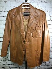 c6f2111f8 Vintage Atkinson Brown Leather Jacket Women's Size L/XL Retro 80s 90s VTG