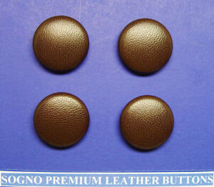 """VINTAGE BROWN 100/% LEATHER WOVEN DOME BUTTONS 1/"""" set of 10 TEN"""