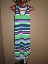 Poof Girl Striped Tee Dress Size S(7-8)