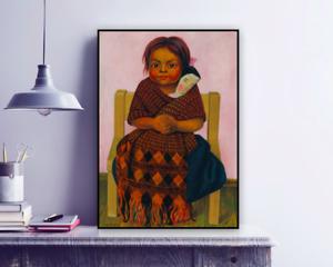 Diego Rivera 'Niña con muñeca de trapo,1939' Painting Art Reproduction Print