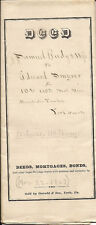 1857 York PA Historic Document Samuel Rudy Smyser DEED with IRS CONVEYANCE STAMP