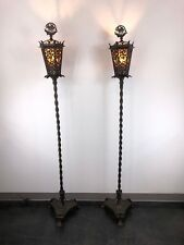 Oscar Bach Segar Studios Bronze Torchieres Floor Lamps